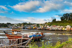 Palafitos in Chiloe Stock Photo