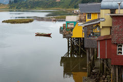 Palafitos of Chiloe Stock Images