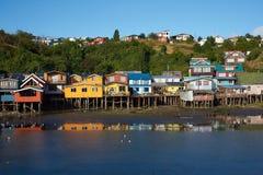 Palafitos de Chiloé Foto de archivo libre de regalías