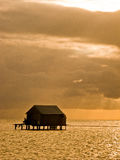 Palafitos. Houses over logs in the water, mexican caribbean Stock Photography