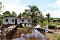 Palafitte em Bornéu Foto de Stock Royalty Free