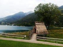 Palafitte Lago di Ledro Стоковое Изображение RF