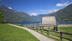 Palafitte on the lake. Palafitte on Ledro lake , italy Royalty Free Stock Photos