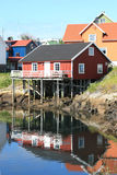 Palafitte's house of Henningsvaer Royalty Free Stock Image