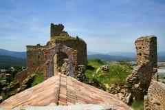 Palafolls城堡 免版税库存图片