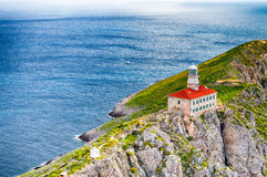 Palagruza Lighthouse 2. Lighthouse on island Palagrusa, in Adriatic sea. The farthest island in Croatia Stock Photo