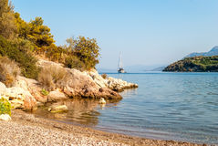 Palaia Epidaurus beach, Argolis, Greece Royalty Free Stock Photography