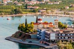Palaia Epidaurus village harbor, Argolis, Greece royalty free stock photography