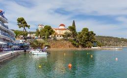 Palaia Epidaurus village waterfront, Peloponnese, Greece Royalty Free Stock Photos