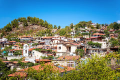 Palaichori, tradycyjna Cypr górska wioska cibora Nicosia Zdjęcie Stock
