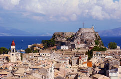Palaio Frourio in city of Corfu Royalty Free Stock Photography