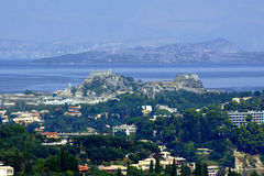 Palaio Frourio in city of Corfu Stock Image