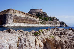 Palaio Frourio in city of Corfu Royalty Free Stock Photo