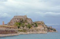Palaio Frourio in city of Corfu Stock Photo