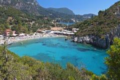 Palaiokastritsa strand på Korfu, Grekland Fotografering för Bildbyråer