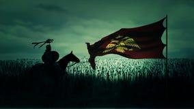Palaiologos-Dynastie und das byzantinische Reich, das für Krieg sich vorbereitet vektor abbildung