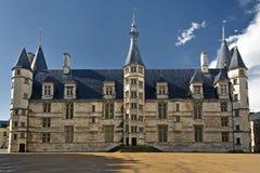 Palais公爵从Nevers,法国 库存照片