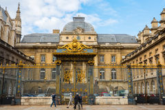 Palais在Ile de la Cite的de Justice在巴黎 免版税库存照片