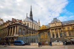 Palais在Ile de la Cite的de Justice在巴黎 库存照片