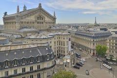 Palais或歌剧Garnier顶视图音乐的国立学院 免版税库存照片