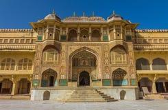 Palais à l'intérieur du fort ambre à Jaipur Images stock