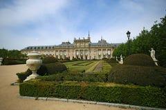 Palais à la La Granja de San Ildefonso dans la province de Ségovie, Castille y Léon, Espagne Image libre de droits