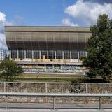 Palais abandonn? des concerts et des sports ? Vilnius, Lithuanie image libre de droits