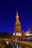 Palais au grand dos espagnol à Séville Espagne Photos stock