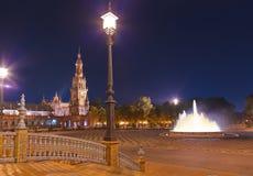Palais au grand dos espagnol à Séville Espagne Photographie stock