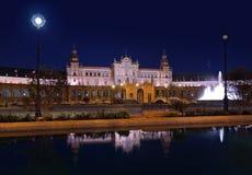 Palais au grand dos espagnol à Séville Espagne Photographie stock libre de droits