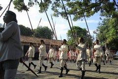 Palais blanc de Yogyakarta de soldats Photos libres de droits