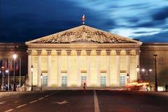 Palais Bourbon - French Parliament, Paris, Assemblee Nationale stock image