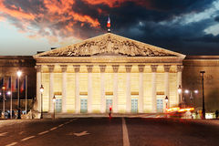 Palais Bourbon - French Parliament, Paris, Assemblee Nationale Stock Images