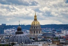 Palais Bourbon, Les Invalides, sky, city, landmark, urban area. Palais Bourbon, Les Invalides is sky, urban area and daytime. That marvel has city, skyline and royalty free stock photo