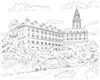 Palais Cesky Krumlov Photographie stock libre de droits