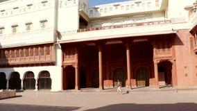 Palais décoratif à l'intérieur de fort de Junagarh, Bikaner banque de vidéos