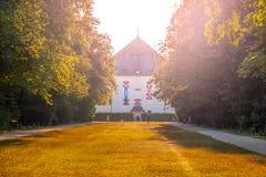 Palais d'été Hvezda, aka Letohradek Hvezda, dans la réservation de jeu de Hvezda, Prague, République Tchèque Images libres de droits