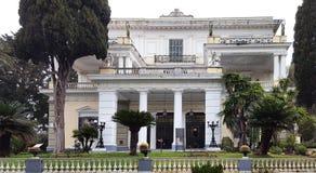 Palais d'Achilleion d'impératrice de l'Autriche Elisabeth de la Bavière en île de Corfou, Grèce image stock