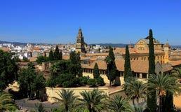 Palais d'Alcazar à Cordoue images stock