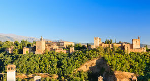 Palais d'Alhambra, Grenade, Espagne Photographie stock libre de droits