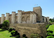 Palais d'Aljaferia à Zaragoza, Espagne Image libre de droits