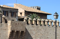 Palais d'Almudaina dans Palma de Majorque Photographie stock