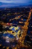 Palais d'artes de Bellas à la nuit Photos libres de droits