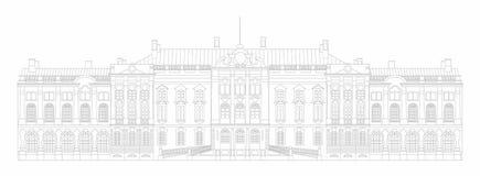 Palais d'illustration de vecteur Image libre de droits