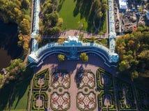 Palais d'Oranienbaum à partir du dessus Photo libre de droits