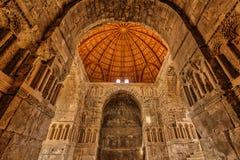 Palais d'Umayyad à la citadelle d'Amman, Jordanie Photo libre de droits