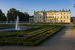 Palais dans Bialystok, la résidence historique du magnat polonais Photos libres de droits