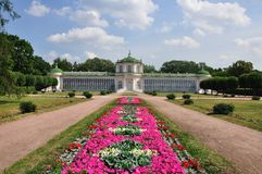 Palais dans Kuskovo. Image libre de droits