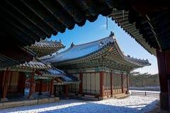 Palais dans la ville de Séoul, Corée du Sud Photographie stock