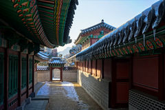 Palais dans la ville de Séoul, Corée du Sud Images stock